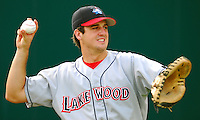 15 Aug 2007:  Joel Naughton of the Lakewood BlueClaws, Class A affiliate of the Philadelphia Phillies, in a game against the Greenville Drive at West End Field in Greenville, S.C. Photo by:  Tom Priddy/Four Seam Images