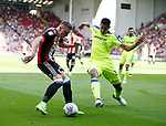 Caolan Lavery of Sheffield Utd shoots during the Championship match at Bramall Lane, Sheffield. Picture date 26th August 2017. Picture credit should read: Simon Bellis/Sportimage