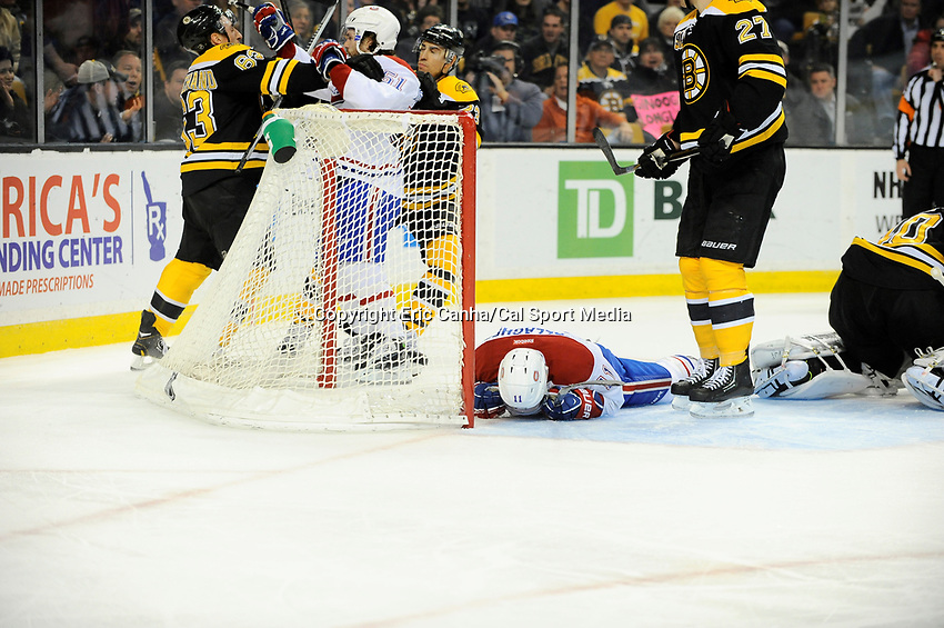 January 30, 2014 - Boston, Massachusetts, U.S. - during the NHL game between the Montreal Canadiens and the Boston Bruins held at TD Garden in Boston Massachusetts. Montreal defeated Boston 4-1 in regulation.  Eric Canha/CSM