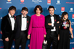 Jordi Cruz, Fernando Tejero, Samantha Vallejo, Pepe Rodriguez and Loles Leon attends to the photocall of the Gala Sida at Palacio de Cibeles in Madrid. November 21, 2016. (ALTERPHOTOS/Borja B.Hojas)