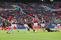 Tyrone Mings of Aston Villa gets to grips with David Silva of Manchester City during Aston Villa vs Manchester City, Caraboa Cup Final Football at Wembley Stadium on 1st March 2020
