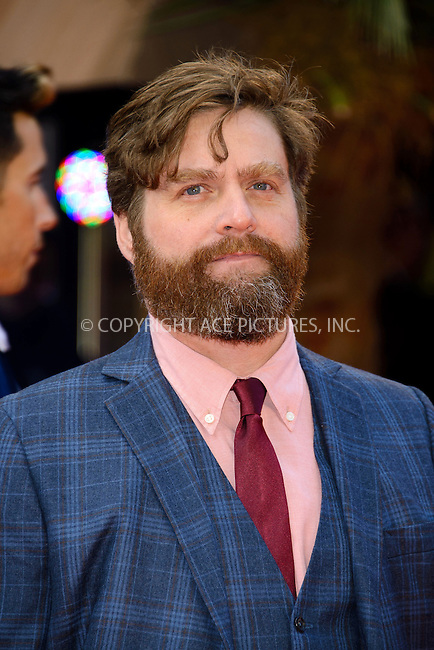 WWW.ACEPIXS.COM....US Sales Only....May 22 2013, London....Zach Galifianakis at 'The Hangover Part III' European premiere held at the Empire Leicester Square in London....By Line: Famous/ACE Pictures......ACE Pictures, Inc...tel: 646 769 0430..Email: info@acepixs.com..www.acepixs.com