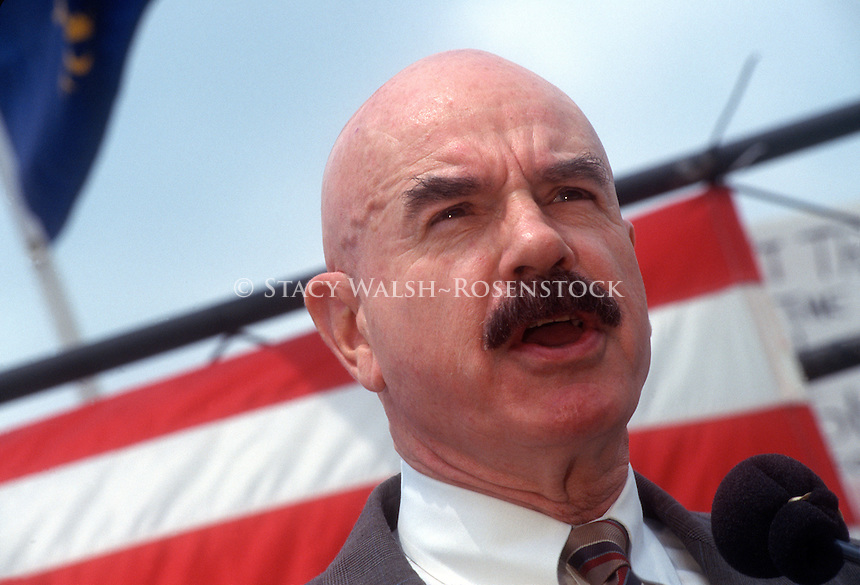 Washington, DC - Convicted Watergate Plumber and Radio Talk Show host G Gordon Liddy  speaking at a pro-gun rally organized by the Committee for 1776,