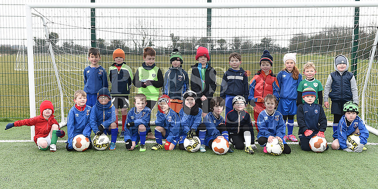 Children who attend the East Meath United Football Academy. Photo:Colin Bell/pressphotos.ie