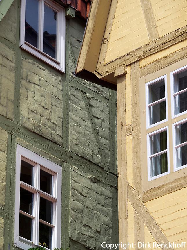 Fachwerkh&auml;user, Breite Star&szlig;e, Quedlinburg, Sachsen-Anhalt, Deutschland, Europa, UNESCO-Weltkulturerbe<br /> halftimbered houses at Breite Stra&szlig;e  in Quedlinburg, Saxony-Anhalt, Germany, Europe, UNESCO World Heritage