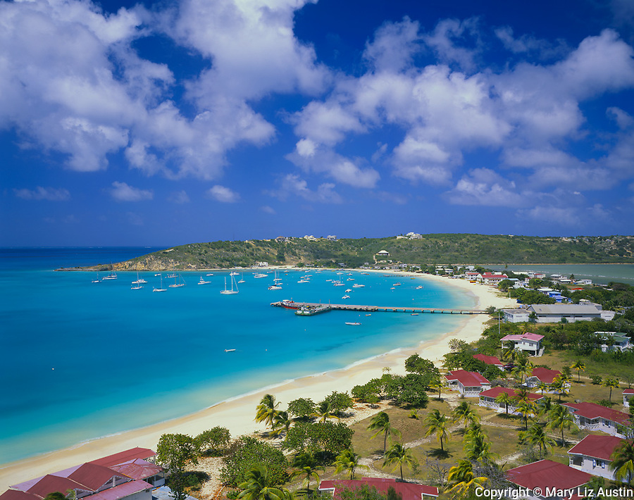Anguilla, BWI:  View of Road Bay and Sandy Ground area on Anguilla's northwest coast
