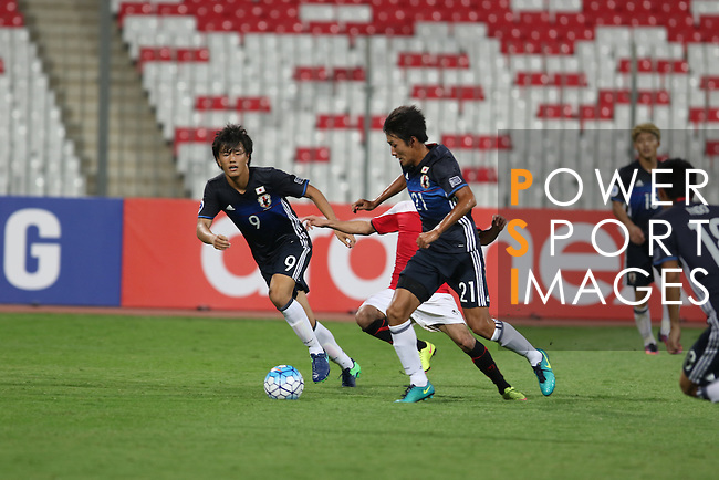 Japan vs Yemen during the 2016 AFC U-19 Championship Group C match at Bahrain National Stadium on 14 October 2016, in Riffa, Bahrain. Photo by Jaffar Hasan / Lagardere Sports