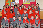 PUPILS: Starting school in Miss Westlake's class, Holy Cross National School, Killarney, on Monday. Front row l-r: Aaron O'Sullivan, Joseph Finbarr Kelliher-O'Donoghue, Kascper Cieslak, Evan Mannix, Amy Myers and Ciara Casey. Second row l-r: Leah Dickson, Keshma Kaddas, Céilim O'Sullivan, Tom Doyle, Saoirse Egan and Zusana Karpus. Third row l-r: Patrick Komosa, Donnacha Greally, Roseline Dooley, Shobaih Kaddas, Megan Horgan-O'Connor, Kayleigh O'Connor, Kate O'Sullivan, Emma O'Connor. Back row l-r: Robert Labuda, Amy Courtney Cronin, Petre Dorin Nicola and Eivanas Eglitis.