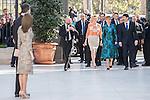 Hungarian President Janos Ader, wife Anita Herczegh, King Felipe VI of Spain and Queen Letizia of Spain attend 'Obras Maestras de Budapest. Del Reancimiento a las Vanguardias' exhibition at the Thyssen-Bornemisza Museum in Madrid, Spain. February 17, 2017. (ALTERPHOTOS/Rodrigo Jimenez)