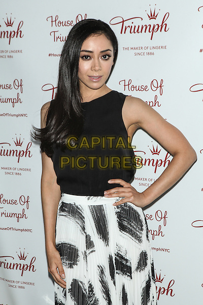 NEW YORK, NY -  AUGUST 28:  Aimee Garcia attends Triumph Lingerie's Magic Wire Launch Event at The Old Bowery Station on August 28, 2014 in New York City.  <br /> CAP/MPI/COR99<br /> &copy;COR99/MPI/Capital Pictures