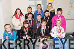 Winners of the art competition for Rock Street and Caherslee Community games held in Mercy Mounthawk school on Saturday were front left to right Emer Dillane,Tara Kelly,Aoife Boyd, and Lucy O Connor.Middle row Lilly Ryan, Emily Flynn,Conor Dennihey,Darragh O Connor and Kayley Murray Back row Cian Dillane, Aoife Dillane and Laura Flynn.