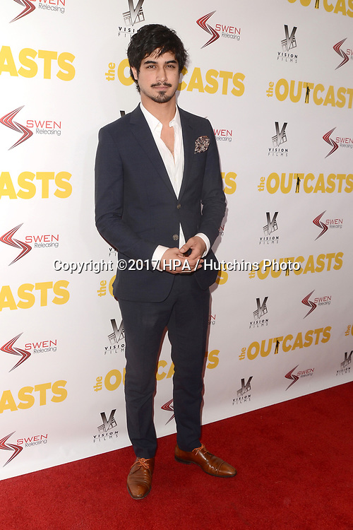 "LOS ANGELES - APR 13:  Avan Jogia at the ""The Outcasts"" Premiere at the Landmark Regent Theater on April 13, 2017 in Westwood, CA"