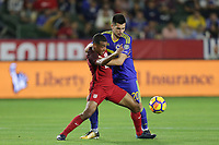Carson, CA - Sunday January 28, 2018: Tyler Adams, Goran Zakarić during an international friendly between the men's national teams of the United States (USA) and Bosnia and Herzegovina (BIH) at the StubHub Center.