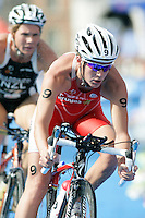 01 SEP 2007 - HAMBURG, GER - Nicola Spirig (SUI) - Elite Womens World Triathlon Championships. (PHOTO (C) NIGEL FARROW)