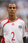 10 June 2007: Cuba's Silvio Pedro Minoso. The Panama and Cuba Men's National Teams tied 2-2 at Giants Stadium in East Rutherford, New Jersey in a first round game in the 2007 CONCACAF Gold Cup.