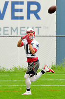 June 6, 2017: New England Patriots wide receiver Julian Edelman (11) makes a catch at the New England Patriots mini camp held on the practice field at Gillette Stadium, in Foxborough, Massachusetts. Eric Canha/CSM