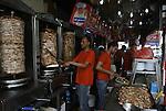 Palestinian vendors sell shawarma at Al  Hana restaurant in Rafah in the southern Gaza Strip, on Sep. 12, 2012. Photo by Eyad Al Baba