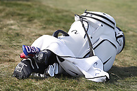 A general view of the bag of Brooks Koepka (USA) that sits near the green on the 12th hole during the 118th U.S. Open Championship at Shinnecock Hills Golf Club in Southampton, NY, USA. 17th June 2018.<br /> Picture: Golffile | Brian Spurlock<br /> <br /> <br /> All photo usage must carry mandatory copyright credit (&copy; Golffile | Brian Spurlock)