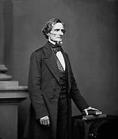 Jefferson Davis, President of the Confederacy, ca.  1860.  Mathew Brady Collection. (Army)<br /> Exact Date Shot Unknown