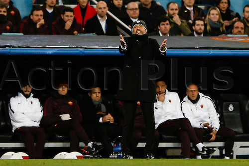 08.03.2016 Estadio Santiago Bernabeu, Madrid, Spain. UEFA Champions League Real Madrid CF versus AS Roma.  Luciano Spalletti Coach of Roma