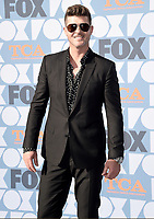 BEVERLY HILLS - AUGUST 7: Robin Thicke attends the FOX 2019 Summer TCA All-Star Party on New York Street on the FOX Studios lot on August 7, 2019 in Los Angeles, California. (Photo by Scott Kirkland/FOX/PictureGroup)