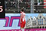 14.02.2020, Preußenstadion, Münster, GER, 3.FBL, SC Preussen Muenster vs. FC Wuerzburger Kickers, <br /> <br /> DFL REGULATIONS PROHIBIT ANY USE OF PHOTOGRAPHS AS IMAGE SEQUENCES AND/OR QUASI-VIDEO<br /> <br /> im Bild<br /> Sebastian Schuppan (FC Würzburger Kickers #27) bedankt sich nach dem Spiel bei den Fans.<br /> <br /> Foto © nordphoto / Paetzel