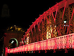 Singapore Anderson Bridge At Night - Anderson Bridge at night, Singapore River, Singapore