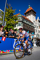 Picture by Alex Whitehead/SWpix.com - 28/09/2018 - Cycling - UCI 2018 Road World Championships - Innsbruck-Tirol, Austria - U23 Men's Road Race - James Shaw of Great Britain.