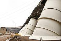 FOZ DE IGUAÇU, PR, 17.06.2016 - ITAIPU-USINA- Vista do prédio da Universidade Federal da Integração Latino-Americana (Unila) dentro de Itaipu-binacional na manhã desta sexta-feira (17). A construção do prédio da Unila está parada em Foz deste de 2014. O Consórcio Mendes Júnior/Schahin, responsável pelas obras, pediu rescisão do contrato e paralisou as obras.(Foto: Paulo Lisboa/Brazil Photo Press)