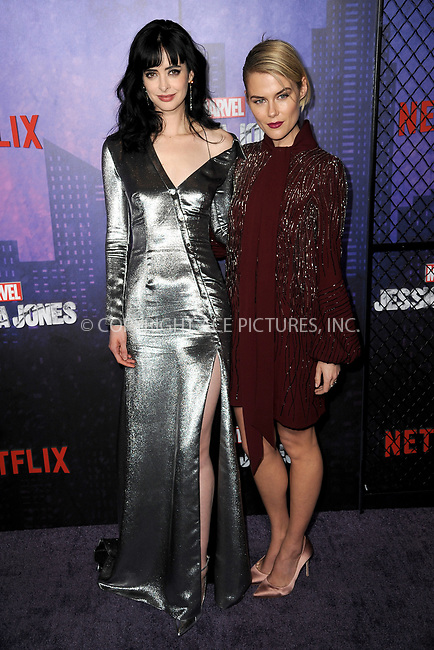 www.acepixs.com<br /> March 7, 2018  New York City<br /> <br /> Krysten Ritter and Rachael Taylor attending attending Marvel's 'Jessica Jones' season 2 TV show premiere on March 7, 2018 in New York City.<br /> <br /> Credit: Kristin Callahan/ACE Pictures<br /> <br /> <br /> Tel: 646 769 0430<br /> Email: info@acepixs.com