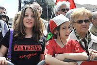 Roma, 25 aprile 2012.Corteo per la Liberazione dal nazifascismo