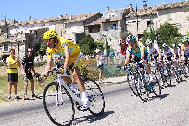 Alberto Contador during the penutimate stage to the Mont Ventoux in the 2009 Tour de France, 25th July 2009 (Photo by Manus OReilly/NEWSFILE)