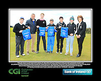 Tralee GC team and Lady Captain with Bank of Ireland Official Morgan Whelan and CGI Participation Officer Jennifer Hickey with Junior golfers across Munster practicing their skills at the regional finals of the Dubai Duty Free Irish Open Skills Challenge at the Ballykisteen Golf Club, Limerick Junction, Co. Tipperary. 16/04/2016.<br /> Picture: Golffile | Thos Caffrey<br /> <br /> <br /> <br /> <br /> <br /> All photo usage must carry mandatory copyright credit (© Golffile | Thos Caffrey)