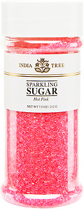 10207 Hot Pink Sparkling Sugar, Tall Jar 7.5 oz