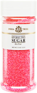 10207 Hot Pink Sparkling Sugar, Tall Jar 7.5 oz, India Tree Storefront