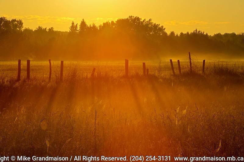 Sunrise on the prairie<br /> Fannystelle<br /> Manitoba<br /> Canada
