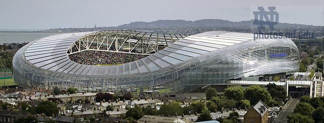 Sep. 1, 2012; 2012 Shamrock Classic at Aviva Stadium in Dublin, Ireland...Photo by Matt Cashore/University of Notre Dame