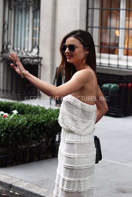 WWW.ACEPIXS.COM<br /> <br /> September 16 2013, New York City<br /> <br /> Model Miranda Kerr leaves her Upper East Side apartment on September 16 2013 in New York City<br /> <br /> By Line: Zelig Shaul/ACE Pictures<br /> <br /> <br /> ACE Pictures, Inc.<br /> tel: 646 769 0430<br /> Email: info@acepixs.com<br /> www.acepixs.com