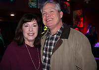 NWA Democrat-Gazette/CARIN SCHOPPMEYER Susan and Stu Todd attend the Kiss a Pig kick off.