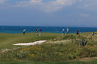 Activity on the 7th green during the Pro-Am of the Rocco Forte Sicilian Open 2018 on Wednesday 4th May 2018.<br /> Picture:  Thos Caffrey / www.golffile.ie<br /> <br /> All photo usage must carry mandatory copyright credit (&copy; Golffile | Thos Caffrey)