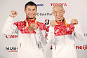 (L-R)<br /> Satoshi Fujimoto,<br /> Makoto Hirose (JPN),<br /> SEPTEMBER 9, 2016 : <br /> Medalist Satoshi Fujimoto, Makoto Hirose and Takuya Tsugawa of Japan during the Press Conference for the Rio 2016 Paralympic Games at the Japan House in Rio de Janeiro, Brazil.<br /> (Photo by Shingo Ito/AFLO)