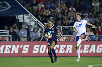 Cary, North Carolina  - Saturday June 17, 2017: Meredith Speck and Julie King during a regular season National Women's Soccer League (NWSL) match between the North Carolina Courage and the Boston Breakers at Sahlen's Stadium at WakeMed Soccer Park. The Courage won the game 3-1.