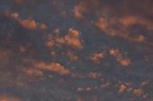Wolkenlucht - zonsondergang