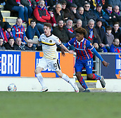 24th March 2018, McDiarmid Park, Perth, Scotland; Scottish Football Challenge Cup Final, Dumbarton versus Inverness Caledonian Thistle; Tom Walsh of Dumbarton and Collin Seedorf of Inverness Caledonian Thistle