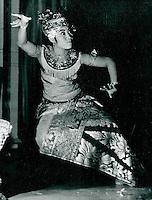 Traditioneller Tanz auf  Bali, Indonesien 1972