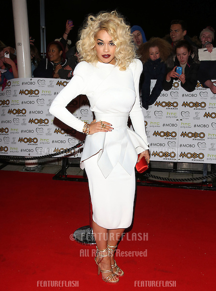 Rita Ora arriving for The MOBO awards 2012 held at the Echo Arena, Liverpool. 03/11/2012 Picture by: Henry Harris / Featureflash