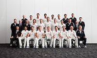 PICTURE BY VAUGHN RIDLEY/SWPIX.COM - Cricket - County Championship - Lancashire County Cricket Club 2012 Media Day - Old Trafford, Manchester, England - 03/04/12 - The Lancashire CCC players, coaches and management gather in The Point for the 2012 photo call.