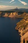 Sunset lighting up the caldera of Crater Lake