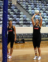 06.10.2014 Silver Fern Cathrine Latu in action at the Silver Ferns training ahead of the netball test match againt Australia in Melbourne. Mandatory Photo Credit ©Michael Bradley.