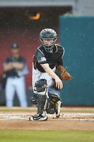 Army Black Knights catcher Jon Rosoff (7) makes a throw to third base following a strikeout against the Auburn Tigers at Doak Field at Dail Park on June 2, 2018 in Raleigh, North Carolina. The Tigers defeated the Black Knights 12-1. (Brian Westerholt/Four Seam Images)